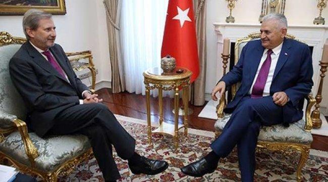Başbakan Yıldırım Hahn ile görüştü